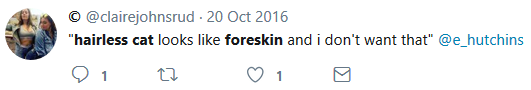 ''looks like a foreskin and I don't want that''