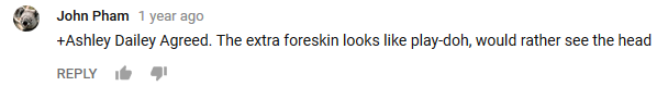 Tweet that ''The extra foreskin looks like Playdoh''
